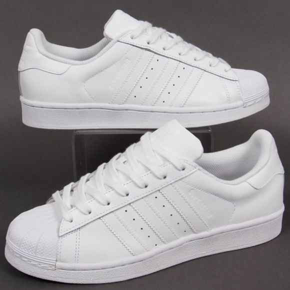 finest selection 9e106 9e876 adidas Shoes - all white adidas superstars